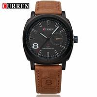 CURREN Luxury Brand Quartz Watch Casual Military Sport Mens Watches Waterproof Leather Mens Wristwatches Relogio Masculino
