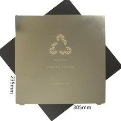 Remoção FLEXBED 235x305mm Mola de Aço folha Aquecida Placa Flexível Construir aplicada PEI + Base Magnética para CR-10 mini Impressora de DIY