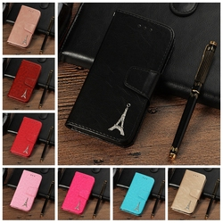sFor Case iPhone 8 Coque Luxury 3D Tower Leather Flip Wallet Phone Cases For Cover iPhone 8 Etui Capinha For Apple iPhone8 Case 1