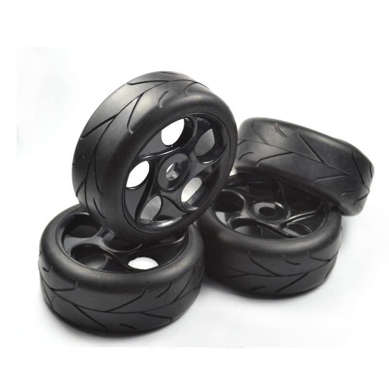 4pcs <font><b>1/8</b></font> <font><b>RC</b></font> On Road Car Buggy Tires <font><b>17mm</b></font> <font><b>Wheels</b></font> image