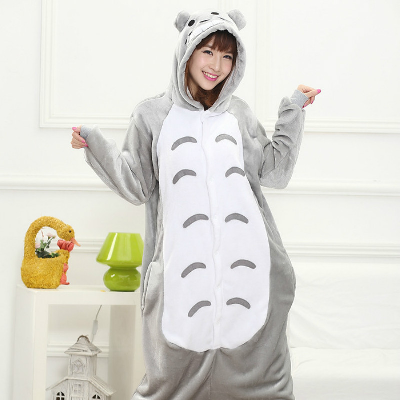 Totoro pajamas women Onesise for adults Flannel Animal pajamas Totoro sleepwear femmei/mujer pijamas enteros de animales
