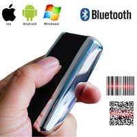 1d 2d bluetooth scanner de código de barras 1d 2d usb bluetooth mini sem fio leitor de código de barras sem fio distância transferência 100 metros