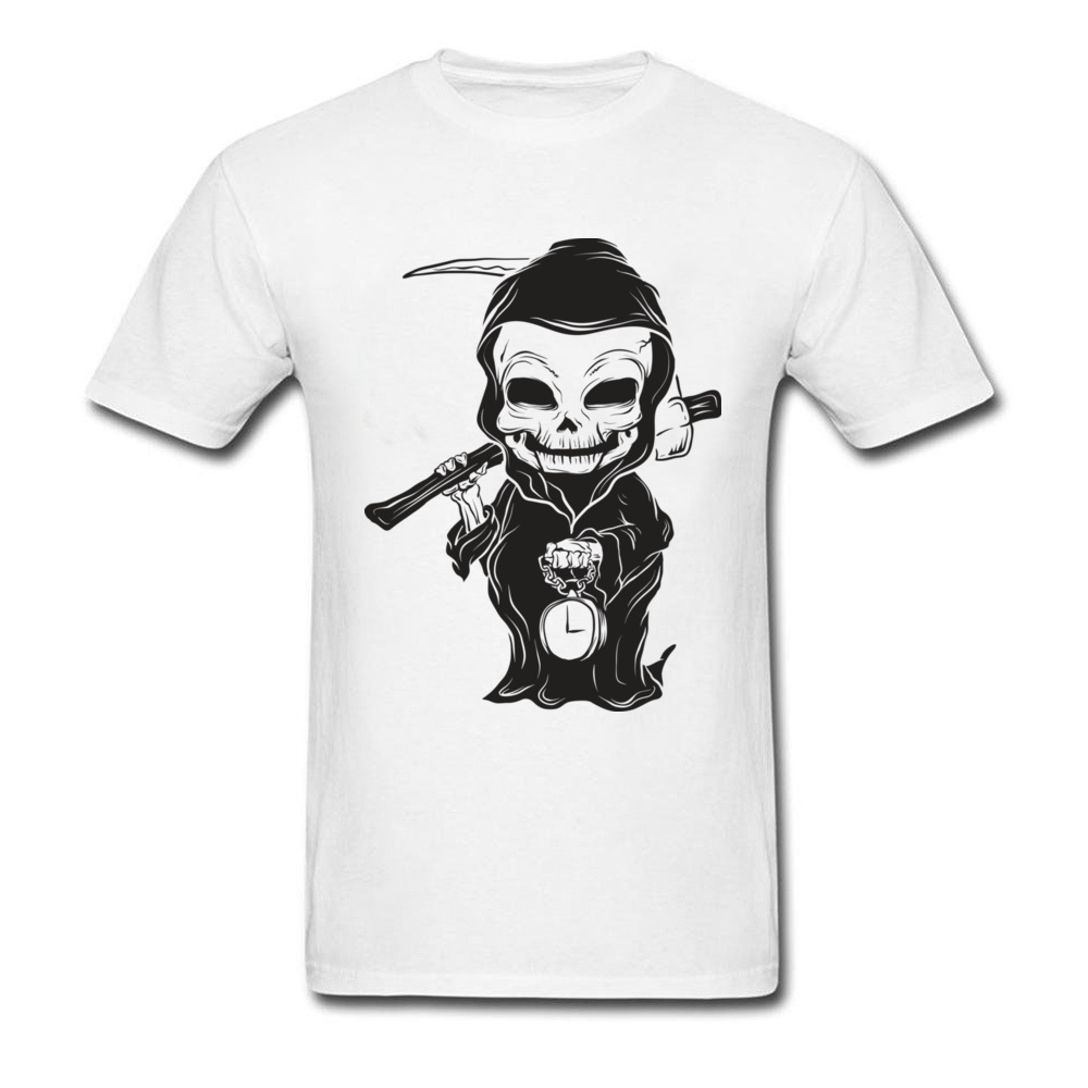 Black Baby Grim Death Note T Shirt Men Funny Design Dark Night Hip Hop Metal Band T-Shirt Geek Tshirt Discount Horror Film