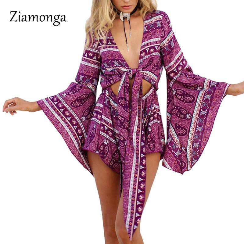 2017, дешевая одежда из Китая, Для женщин комбинезон пикантные открытые короткие костюмы и Боди без бретелек с цветочным принтом Macacao Feminino Curto S2892