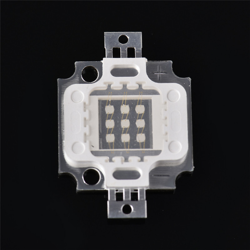 LAIDEYI New Arrival 10W UV Lamp Bead 395- 400NM Purple COB LED Bead Light High Power DIY Ultraviolet LED Chip Lamp 9-12V