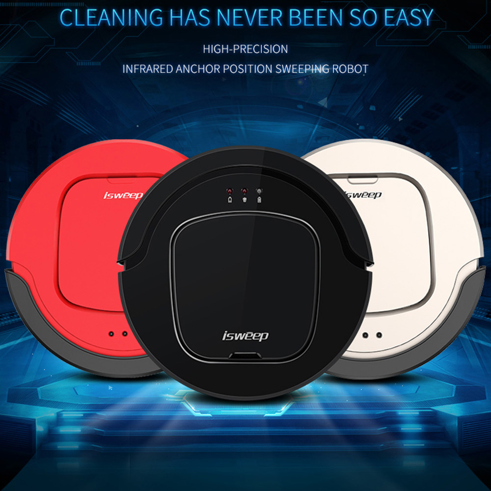 ISWEEP S550 Robotique Aspirateur avec Essuyage Tissu 1000 PA Automatic Charge Sec Auto-Charge Humide Essuyant Intelligent Balayeuse