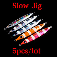 Lurekiller высокое качество медленный джиг приманка свинцовая рыба металлические приспособления 80 г-200 г 5 цветов морская рыболовная приманка