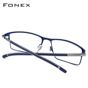 Image 4 - Tytanowe okulary optyczne rama mężczyźni Ultralight Square krótkowzroczność okulary korekcyjne 2019 męskie metalowe pełne bezśrubowe okulary
