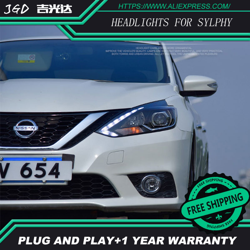 Car Styling Head Lamp case for Nissan Sylphy Headlight 2016 LED Headlight DRL H7 D2H Hid Option Angel Eye Bi Xenon Beam car styling head lamp case for toyota camry headlights led headlight drl h7 d2h hid option angel eye bi xenon