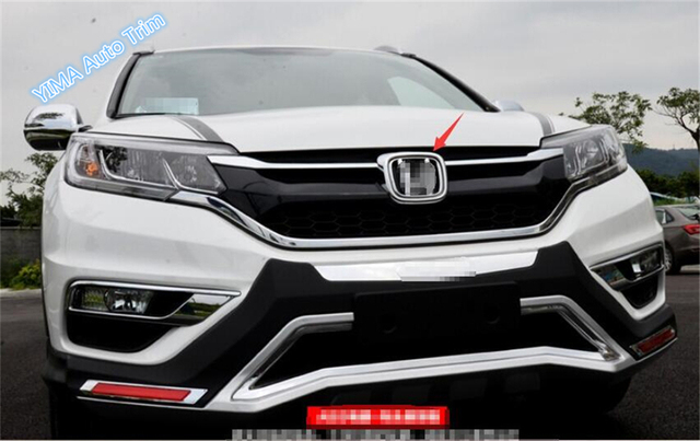 honda crv cr    abs front grill emblem cover trim  pcs auto accessories