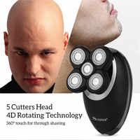 3 In 1 Electric Shaver For Men Bald Head Polish Hair Clipper Trimmer Floating 5 Blade Heads Shaving Machine Rechargeable Razors
