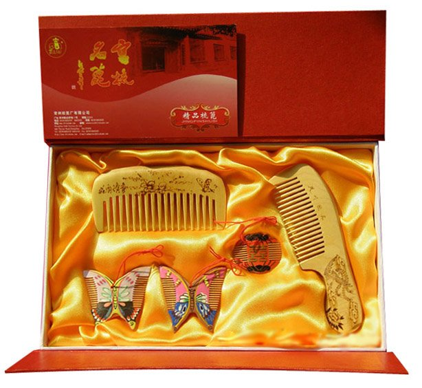 Sale Salable!guaranteed 100% Handcrafted With Chinese Charm Set 5 Boxwood Comb Handwork Totally Wedding Gift-hq Lh 5jt танцевальный инвентарь dance charm 100