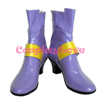 Magical Girl Lyrical Nanoha Fate Testarossa Harlaown Purple Cosplay Shoes Boots Hand Made Custom Made For