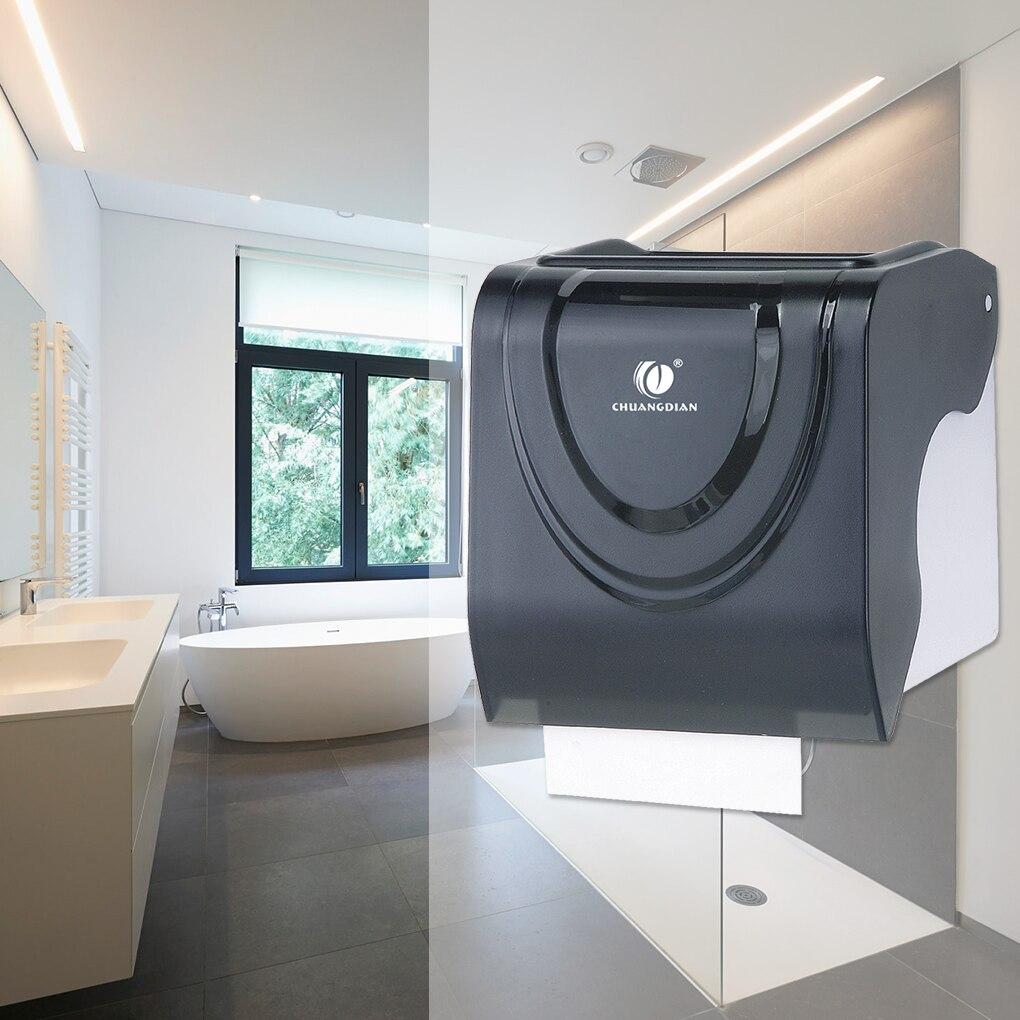 Toilet Paper Holder Plastic Waterproof Tissue Storage Case Wall-mounted Roll Paper Dispenser цена