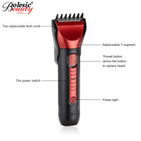 Vendita calda 5in1 kit Impermeabile Ricaricabile Capelli Clipper Beard Rasoio Elettrico Rasoio Orecchie Naso Taglio di Capelli rasoio elettrico per gli uomini