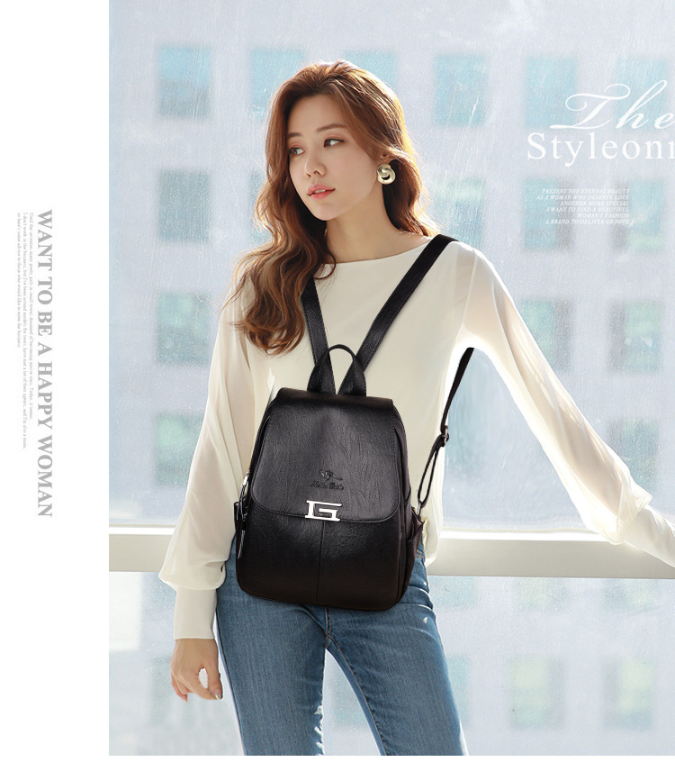 2019 new Backpack Women Bags Designer Brand Women Backpack PU Leather Classic Printed letters High Quality mini School Bag(China)