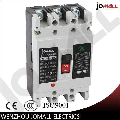 100 Amp 3 pole cm1 type Moulded case type circuit breaker mccb
