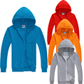 Fashion Winter Autumn Mens Solid Full Zipper Hooded Hoodies Men Casual Sweatshirts