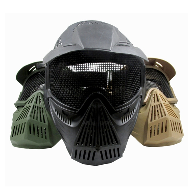 € 15.06 19% de réduction Tactique CS Pro Plein Visage Masque Metal Mesh  Lunettes Protection Chasse Airsoft Paintball Équipement dans de sur ... 201315df56df