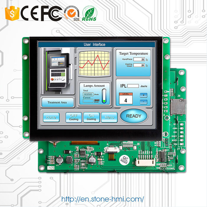 8 Inch 800*600 LCD Controller Monitor Display With RS232 / RS485 / TTL / USB Interface