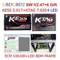 KESS V5 017 V2 23 KTAG V7 020 V2 23 LED BDM FRAME No Tokens Limit