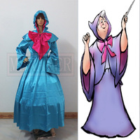 Cinderella Fairy Godmother Dress Costume Outfit Adult Women's Halloween Carnival Cosplay Costume
