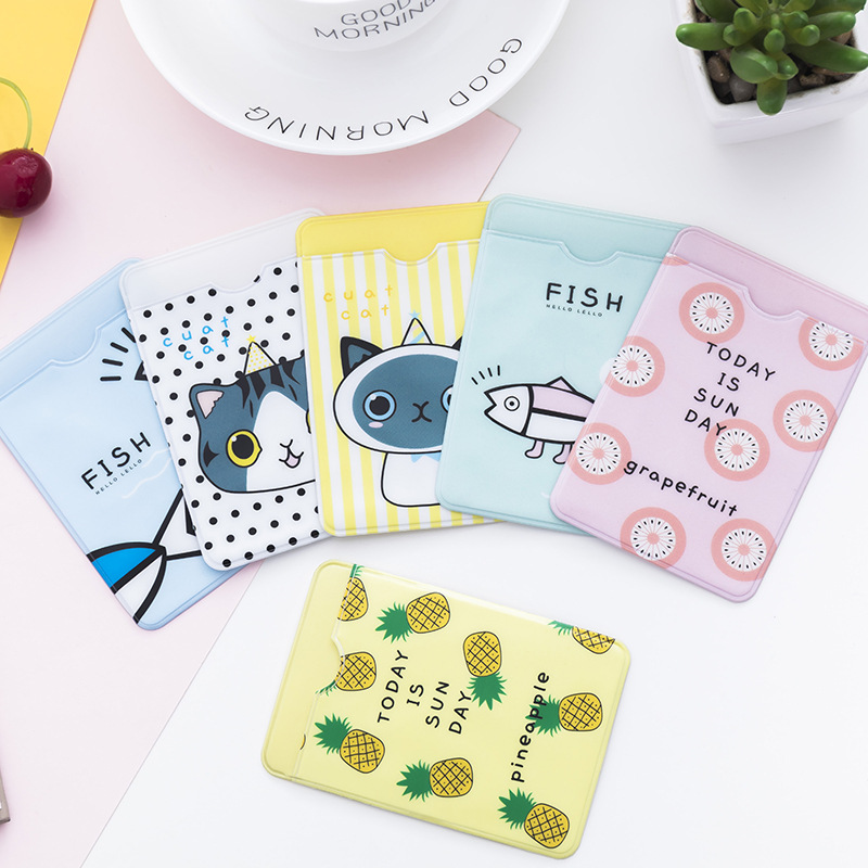 3PCS/lot PVC Cute ID Business Card Holder Case Wallet Fresh Credit Card Holder Women Men Student Bus Card Bags Gift ID Card Bag