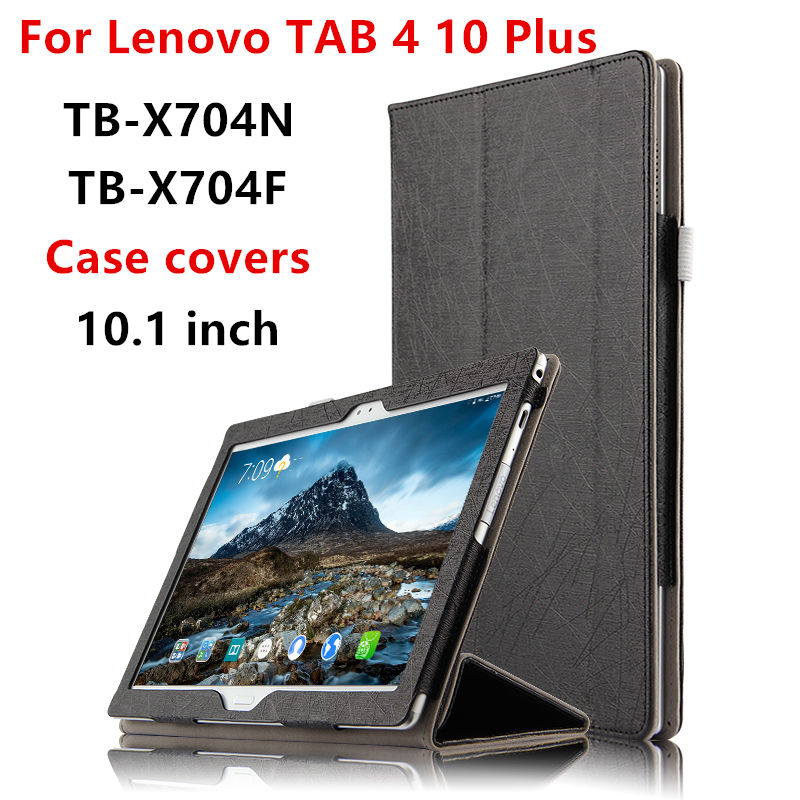 Case For Lenovo TAB 4 10 Plus Cases 10 1 TB X704N X704F Tablet Protective Smart