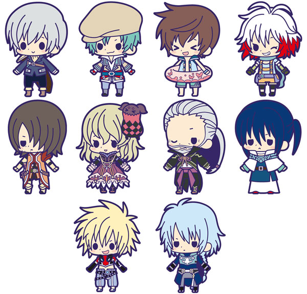 Tales of Friends Symphonia vol.4  Luke fone Fabre Lion Magnus Japanese Rubber Keychain tales of ise