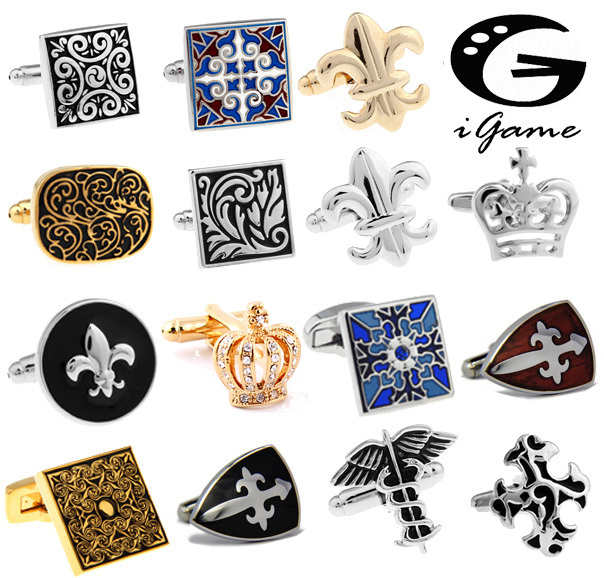 Free Shipping Royal Cufflinks Fashion Vintage Design Gift Cuff Links Wholesale&retail