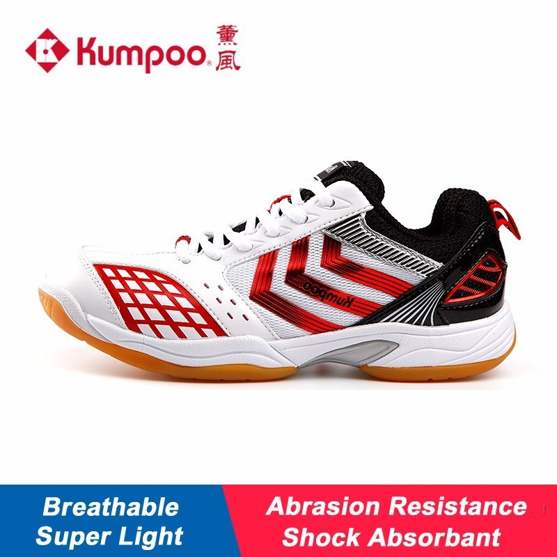 Kumpoo Badminton Shoes For Man And Woman Quaility Shock Absorbant Athletic Shoe Breathable Hard Wearing Sneakers