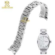 Stainless steel Watchband solid steel strap silver width 22mm bracelet men s watch wristwatches band accessories