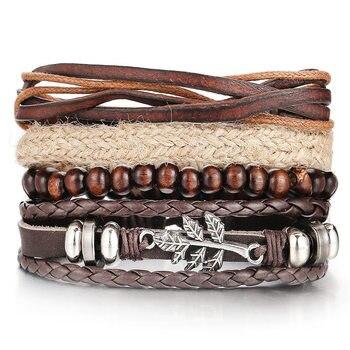 Vintage Multilayer Leather Bracelet for Men Bracelets Jewelry Men Jewelry New Arrivals Metal Color: FDY991