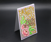 ZhuoAng Blessing flower design cutting mold making DIY clip art book decoration embossing