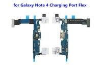10 unids/lote nuevo puerto de carga conector de base USB Cable FLEX para Samsung Galaxy Nota 4 N910F celular piezas de reparación de teléfonos al por mayor