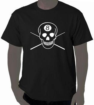 Art T-Shirt 8 Ball Pool Billiards 100% Cotton Brand T Shirts High Quality Casual Printing Tee Men Cool Tees Tops