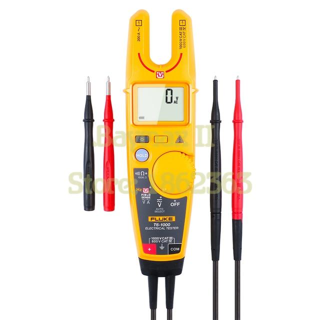 Fluke T6 1000 valores eficaces auténticos de CA sin contacto voltaje/medidor de pinza de corriente con Hz, prueba de resistencia