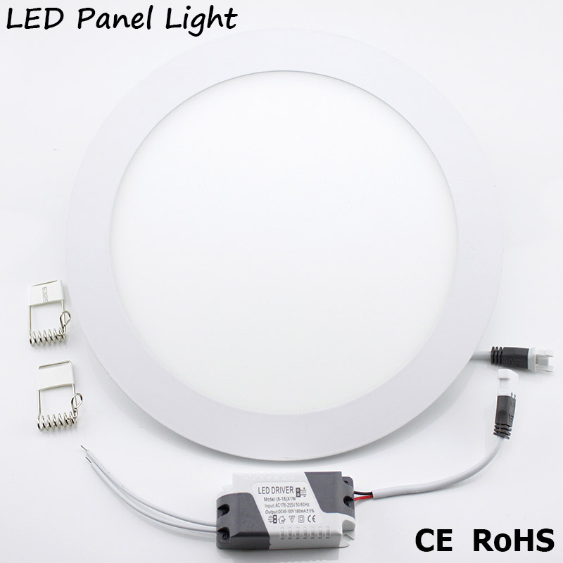 LED-paneellamp AC 220V 3W 4W 6W 9W 12W 15W 18W Ronde led-downlight Hoge helderheid spot light