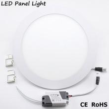 LED Panel light lamp AC 220V 3W 4W 6W 9W 12W 15W 18W Round led downlight High brightness spot light