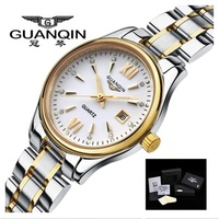 GUANQIN Women Watches Luxury Brand Ladies Quartz Watches Gold Waterproof Dress Women's Wristwatches Steel Clock Montre Femme