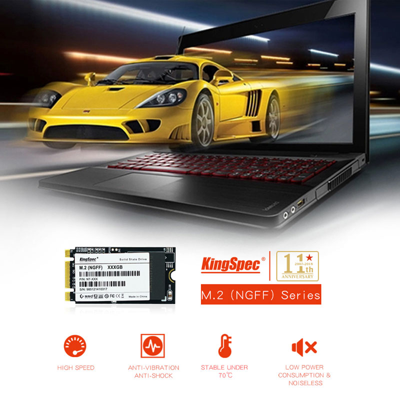 Kingspec stabile leistung M.2 SSD 64 gb 128 gb 256 gb NGFF M.2 solid state festplatte für ultrabook tablet intel AMD plattform 2242