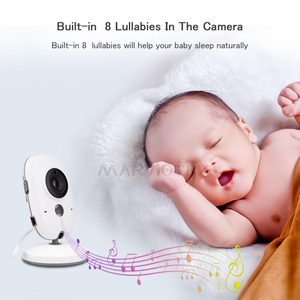Image 4 - Baby Monitor Video Farbe LCD 2 weg Audio Sprechen 8 Lullabies Temperatur monitor video nanny radio babysitter baby kamera Wireless