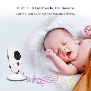 Image 4 - Baby Monitor Video LCD a colori 2 vie Audio Talk 8 ninne nanne nanne monitor di temperatura video tata radio baby camera Wireless