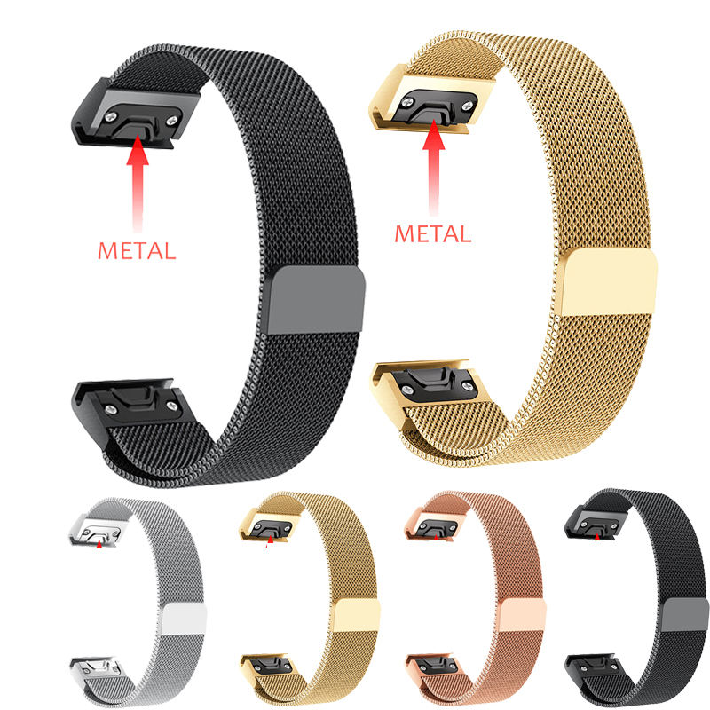 Quick Release Milanese Loop Band for Garmin Fenix 3 HR 5X 5S Watch Band 20 22 26 mm Bracelet belt for Garmin Forerunner 935 in Smart Accessories from Consumer Electronics