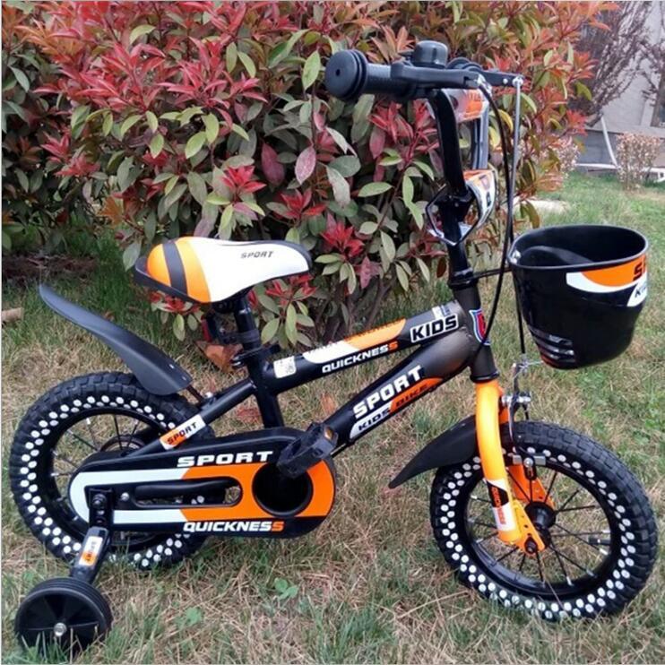 Vélo pour enfants bébé poussette vélo 12 pouces 14 pouces 16 pouces vélo tour sur jouets pour enfants quatre roues vélo 3-8 ans - 4