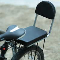 Bicyle Child Rear Seat PU Leather Thick Cushion Cover Moutain Bike Seat With Backrest Cycle Back Seat