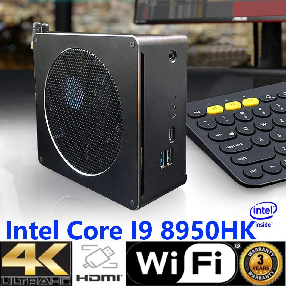 Mini PC,Desktop Computer,with Windows 10 Pro/Linux Ubuntu Support,Intel Core I9 8950HK,[HUNSN BY01L],[4USB3.0/HD/RJ45/Mini DP]