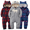 Baby Hooded Long Sleeve Rompers Baby Winter Jumpsuits Clothing set New-born Fleece Rompers Bebes soft Cotton Clothing