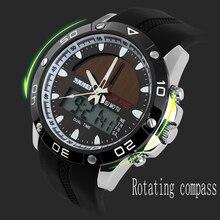 Nuevo 2016 Hombres Deportes Relojes Ejército Skmei 1064 Energía Solar LLEVÓ el Reloj A Prueba de agua Al Aire Libre Militares Vestido Reloj Relogio masculino