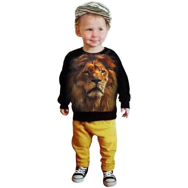 9c379d8da Ropa para niños 2018 Otoño Invierno camiseta + Pantalones de Navidad unids 2  piezas traje niños
